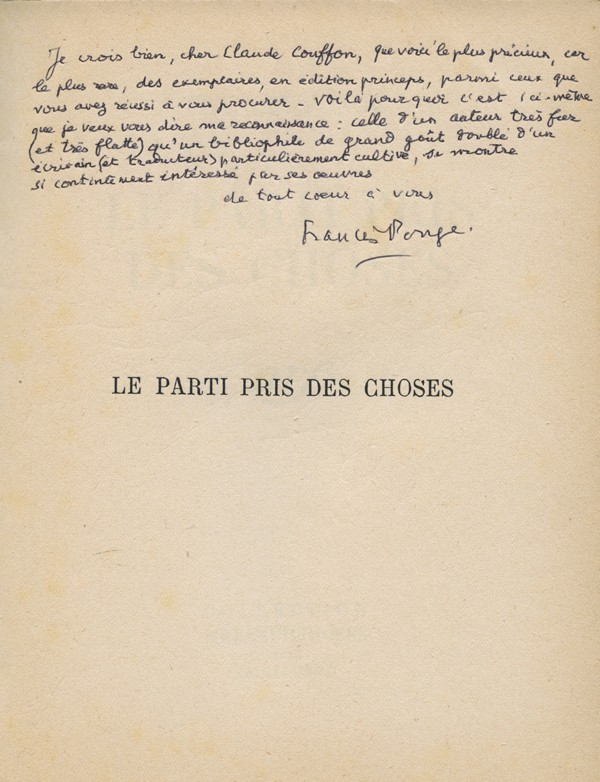PONGE (Francis)