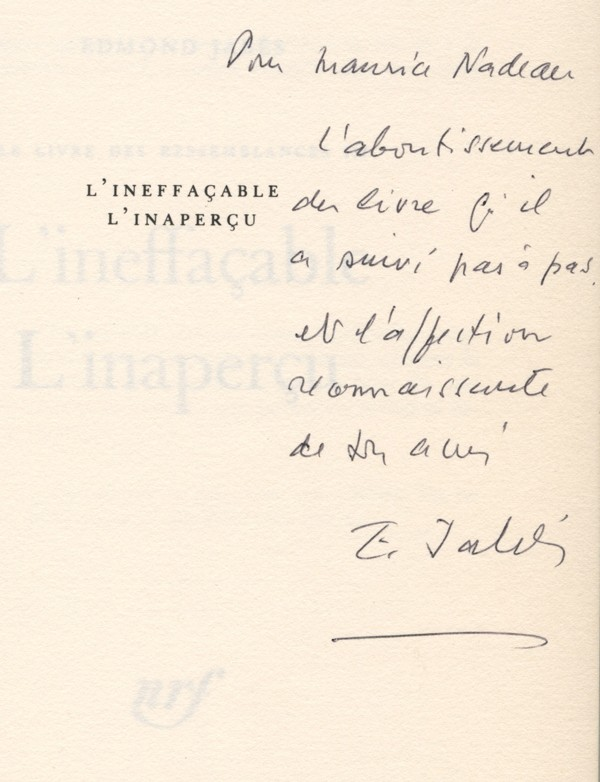 JABÈS (Edmond)