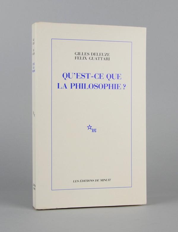 Deleuze Gilles Guattari Felix Qu Est Ce Que La Philosophie