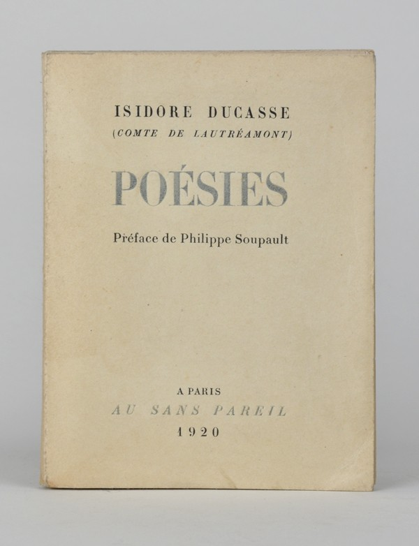 DUCASSE (Isidore) [Comte de LAUTREAMONT]