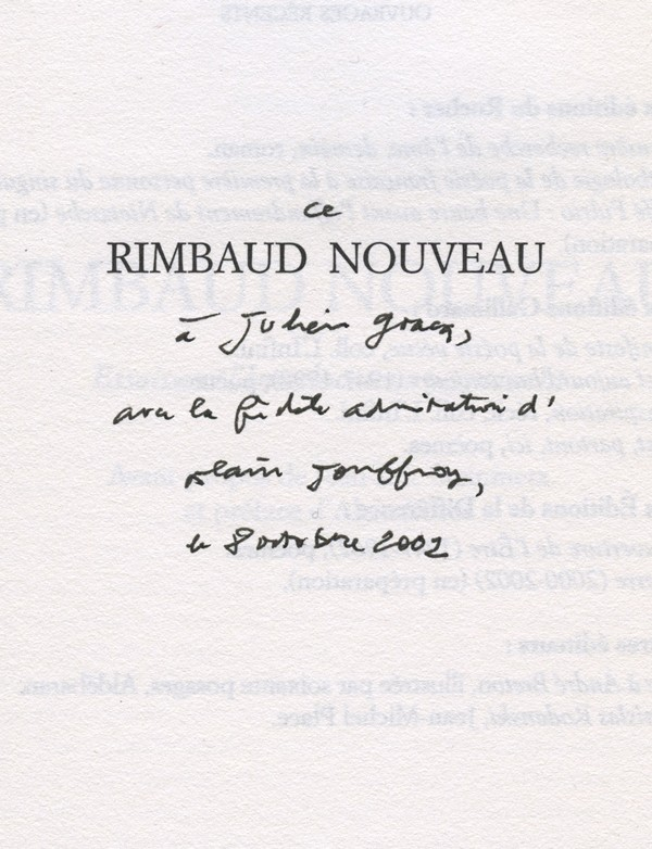 [GRACQ (Julien)] JOUFFROY (Alain)