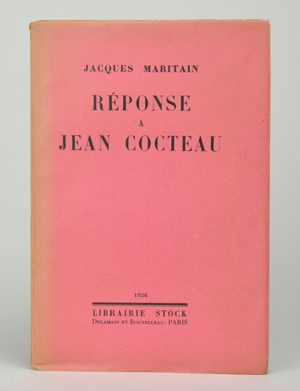 [COCTEAU (Jean)] MARITAIN (Jacques)