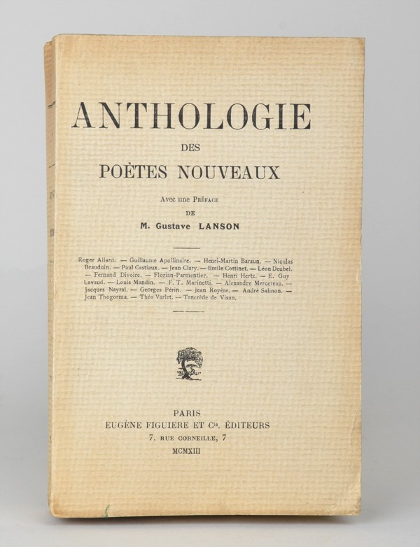 Apollinaire Guillaume Anthologie Des Poètes Nouveaux 1913