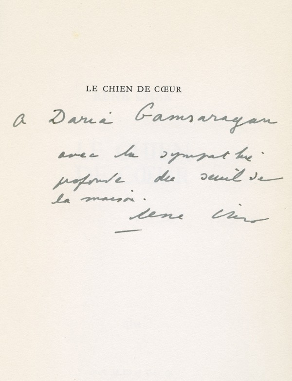 [GLM] [LEVIS MANO (Guy)] CHAR (René)