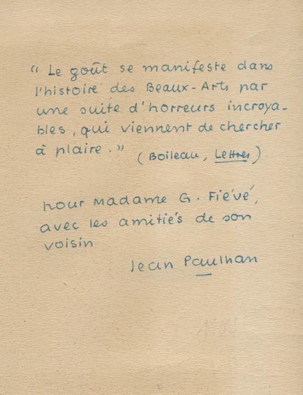 PAULHAN (Jean)