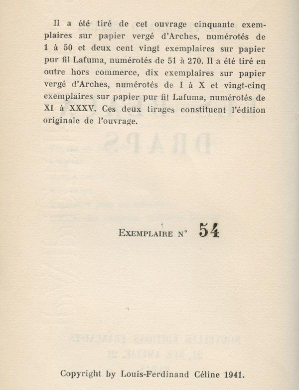 CELINE (Louis-Ferdinand)